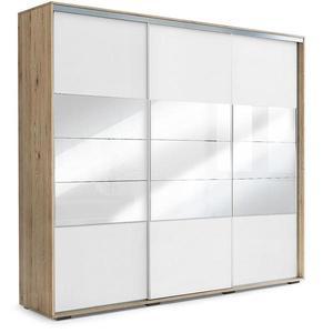 Skříň Milena A26 250 Zrcadlo Craft Zlatý/Bílý obraz