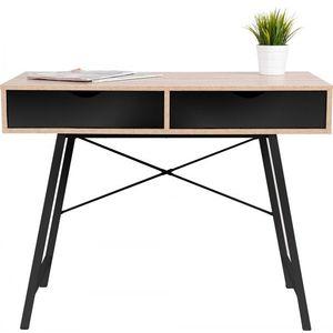 Tutumi Psací stůl Loft dřevo/černý obraz