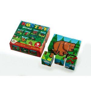 Teddies kostky kubus dřevěné Moje první lesní zvířátka obraz