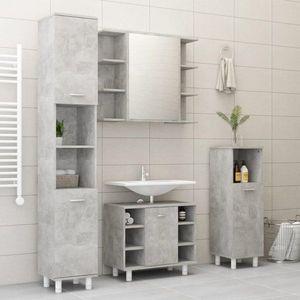 Koupelnová sestava 4 ks DTD Dekorhome Beton obraz