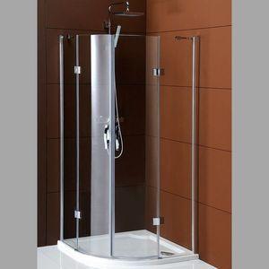 GELCO LEGRO čtvrtkruhová sprchová zástěna dvoukřídlá 1000x1000mm, čiré sklo GL5510 obraz